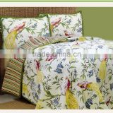 garden style 100% cotton bed set duvet cover