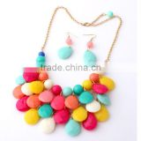2015 wholesale cheapest colorful water drop bead diffuser necklace