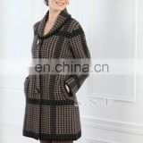European style slimfit women's cashmere winter overcoat with Factory Price