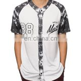 Polyester baseball jerseys with full button, baseball mesh polyester for men, wholesale cheap custom jersey t shirt