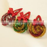 Christmas Girl Snap Clip Red Bow Toddler Hair Pin Lolipop Barrettes Festival Fashion Baby Gift