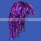 Adults or Childs Economy purple Foil Tinsel Costume Wig