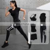 5pcs/set Hot sale Europe and America Gym Fitness Workout Suit Clothing