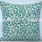 Indian Hand Block Printed Cushion Cover Ethnic Pillow Cover Ethnic Throw Indian Cushion Cover