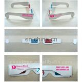 no minimum custom full color print logo coated paper 3d movie glasses for sale