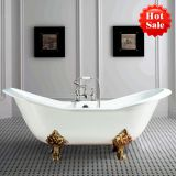 double silpper cast iron bathtub on lion paw feet
