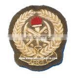 Hand Embroidery Bullion Badge, Decorative Embroidery Patches