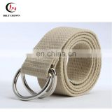 Garment Accessories of Military Cotton Webbing Man's Waist safety Metal Belt with GG Buckle Belt