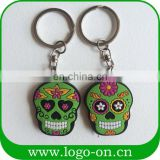 Fashion Customer Design Colorful skull soft PVC rubber key cover