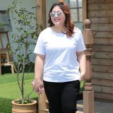 Large size T-shirt women's summer wear plus fat and oversized short sleeve pure cotton shirt.