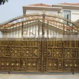 Guangzhou steel gate factory, metal gate, gate for house, house gate designs, iron pipe gate design
