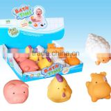 Eco-friendly vinyl toys farm animals Bath Toys