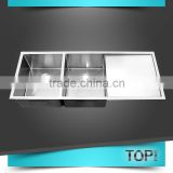 OEM/ODM 304 stainless steel kitchen sink with drain board                                                                         Quality Choice