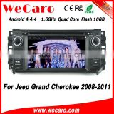 Wecaro WC-JC6235 Android 4.4.4 car radio indash for jeep grand cherokee car radio dab 2008 - 2011 TV tuner