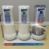 household countertop 3 stage easy water filter machine/water purifier PP+GAC+CTO with CE and Rohs certification