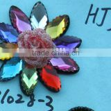 BEADED GLASS CRYSTAL RHINESTONE WEDDING CRAFT VEIL HEADBAND EMBROIDED APPLIQUE