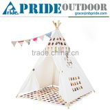 Playhouse-Printed Owl-Preassemble Teepee Canopy Canvas Tent For Kids Cotton One Person Canvas Tent