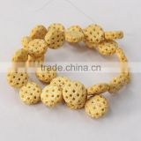 OB073 Wholesale Hand Carved Hollow round oxen Bone beads