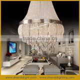 white color birdcage shape fancy light modern crystal pendant lamp online shopping D048/16+9