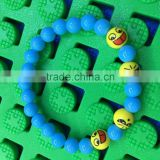 2016 Wholesale Smiley Face blue Emoji bracelet,Cheap Good quality Emoji bracelet,Factory Direct Sale Soft Toys Emoji bracelet