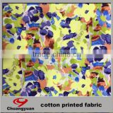 china good quanlity combed woven32*32+40d 200gsm weight printed stock cotton fabric roll
