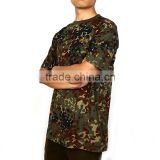 Wholesale breathable and comfortable cotton custom short sleeve camouflage t shirts with round collar
