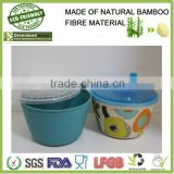 bamboo fiber plastic food storage box