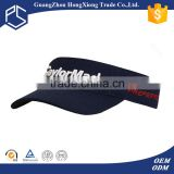 Alibaba Trade Assurance Custom embroidered men's short sports visor/sun visor cap/ hat