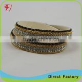 Wholesale Fashion Gemstone Jewelry, Magnetic Bracelet ,Braided Wrap Leather Bracelet Charms