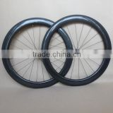 3K glossy chinese carbon road wheels 60mm*23mm light weight Front wheel 710g Rear wheel 870g