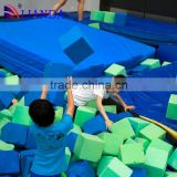 kids trampoline park, large outdoor trampoline park, large sized foam pit trampoline equipment material