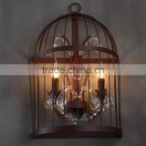 Vintage Birdcage Crystal Chandelier Wall Sconce Bird Cage Bedside Lamp Light Lighting CZ095/2