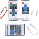 10Key Remote Control color light Adjustable DC5~24V LED Wireless RGB Controller Dimmer RF Controll for LED Strips