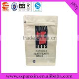 Flat bottom stand up coffee bean package bag/foil coffee been packaging/coffee bean packing bag