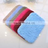 microfiber super soft shaggy floor mat with pvc anti-slip backing china factory
