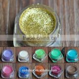 Glitter powder for Christmas handicraft , cosmetics (nail polish , lipsticks , eye shadow etc . ) screen printing . paints etc