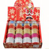 Gift box package red metallic glitter christmas Ribbon 2.5 2 1.5 Inches Wide by 50 Yards