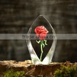 Beautiful Crystal Glass Rose for Wedding Favor                                                                         Quality Choice