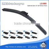 Best quality windscreen wiper blade multi adapter boneless wiper for Toyota Honda