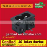 Electrical safety socket IEC Type &AC power socket connector with c8 type