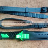 high quality point tip Beta titanium scuba diving knife with sheath and straps