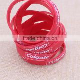 Custom personalized silicone wristbands/red rubber bracelet with printing logo                                                                                                         Supplier's Choice