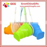 Multi-function silicone drinking folding tea cup with lid                                                                                                         Supplier's Choice