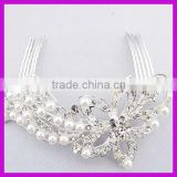 Luxurious rhinestone butterfly bridal hair comb for bride manufacturers China supplier BY 1871