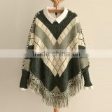 Hot Sale Women Tassels Batwing Sleeves Pullover Cape Sweater