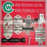 high quality Aluminium alloy suspension clamp/ electrical conduit types are made in WEICHUANG