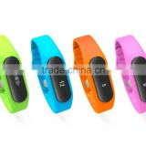 OLED touch sceen sleep monitoring step distance calculate bluetooth bracelet Silicone Led Flashing Bracelet