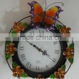 Butterfly Solar Garden Clock for Outdoor Wall