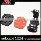 JGJ OEM Vertical J-Hook Buckle Mount + Flat Mount + 3M Adhesive Sticker Sport Camera Accessories for Gopro Hero 3/2/1