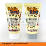 Yellow Plastic Labeling Body Cream Tube Packaging